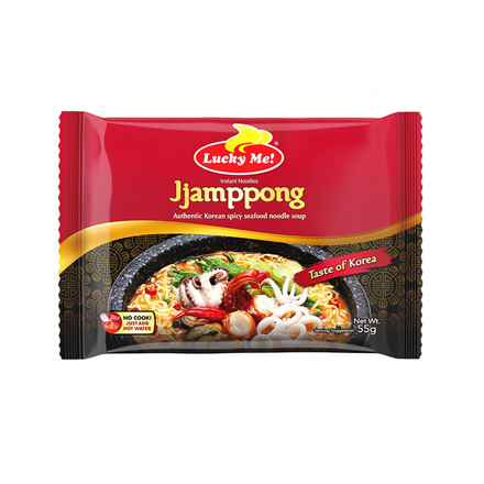 Picture of Lucky Me Instant Noodle Soup Jjamppong Spicy Seafood Pouch 55g, LUC130