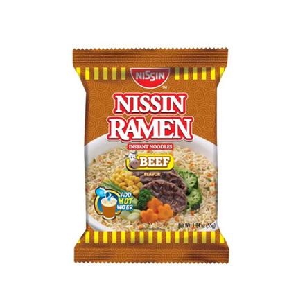 Picture of Nissin Ramen 55g (Beef, Chicken, Creamy Seafood, Seafood, Spicy Beef, Spicy Seafood), NIS36