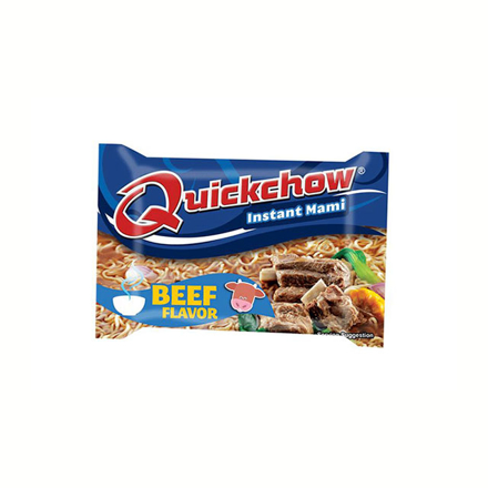 Picture of Quickchow Instant Mami 55g (Beef, Chicken, Hot and Spicy Beef), QUI02
