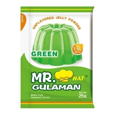 Picture of Mr. Hat Gulaman Powder Green 10's (25g), MRH02