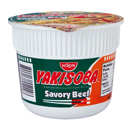 Picture of Nissin Yakisoba Mini Cup Noodles Savory Beef 52g, NIS80