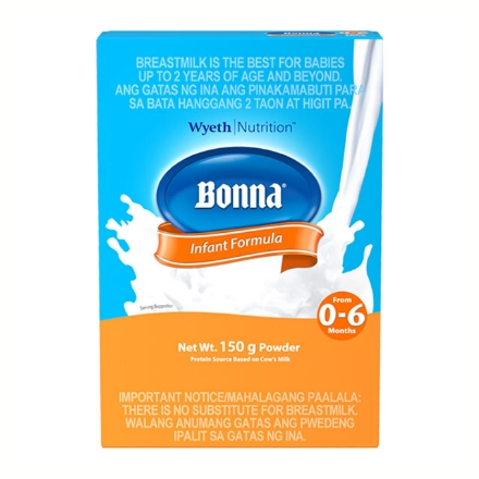 Picture of Wyeth Bonna Infant Milk Box (150g, 180g, 350g, 800g, 1.2 kg, 2 kg), BON92