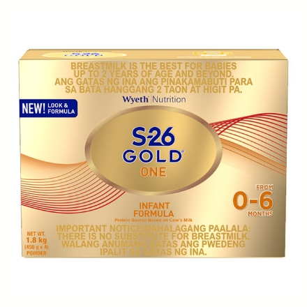 Picture of Wyeth S-26 Gold One Infant Milk 1.8 kg, S2629