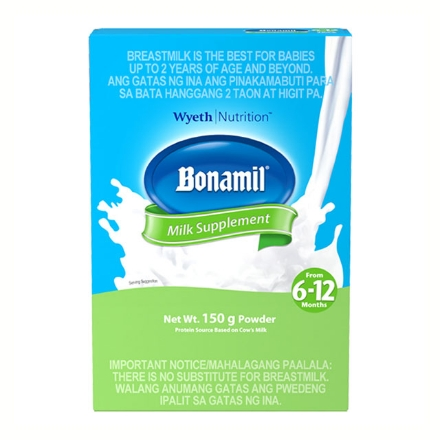 Picture of Wyeth Bonamil Milk Box 6-12 Months (150g, 350g, 800g, 1.2 kg, 2 kg), BON93