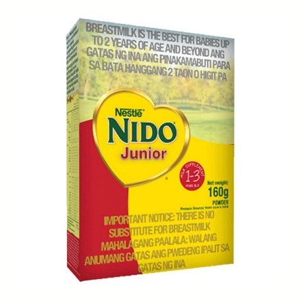 Picture of Nestle Nido Milk Jr. 1-3 Years Old (160g, 370g, 700g, 900g, 1.2 kg, 1.6 kg, 2 kg), NID23