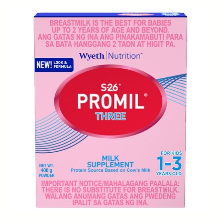 Picture of Wyeth S-26 Promil Three Milk 1-3 Years Old (400g, 900g, 1.8 kg), S2642