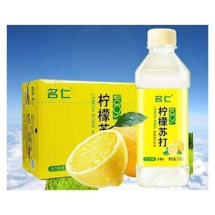 Picture of Mingren Lemon Soda Water 375ml 1 bottle, 1*24 bottle