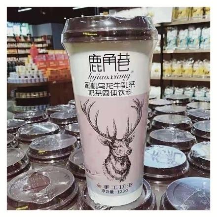 Picture of Lujiaoxiang Milk Tea Peach Oolong 123g 1 bottle, 1*20 bottle