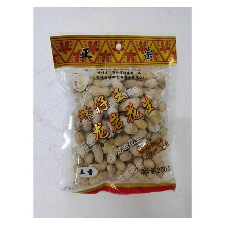 Picture of Fengzaiwang Longyan peanuts,flavor(garlic flavor,five fragrances flavors,wet roasted flavor) 200g,1 pack,1*50 pack   蜂仔王龙岩花生(蒜香味,五香味,湿烤味)200g,1包,1*50包