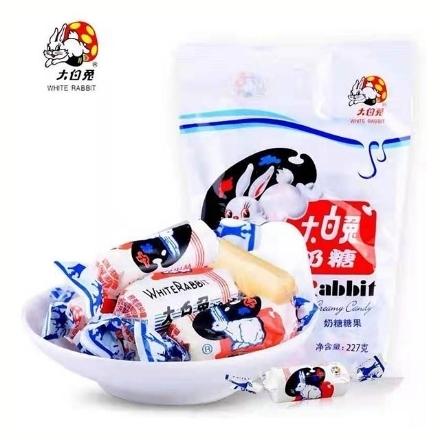 Picture of Guanshengyuan (white rabbit toffee) 227g,1 pack, 1*48 pack   冠生园(大白兔奶糖)227g,1包,1*48包