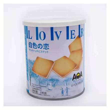 Picture of AOA (white chocolate biscuit) 100g,1 box, 1*24 box   AOA(白巧克力夹心饼干酥)100g,1盒,1*24盒