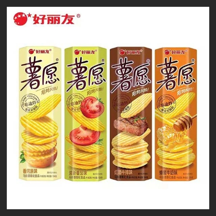 Picture of Orion Sweet Potato chips,Flavor(Fresh Tomato,Honey Milk,Red Wine Steak,Roasted Original) 104g,1 box, 1*20 box (can be mixed and matched)