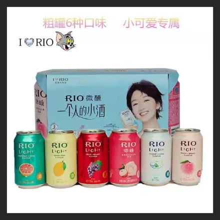Picture of RIO Light (Lactic Acid Bacteria, Grape Brandy, White Peach Brandy, Lemon Rum, Grapefruit Vodka, Rose Lychee) Short Can 330ml, 1 can, 1*24 cans