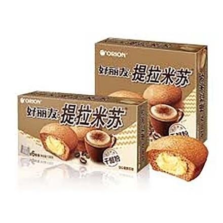 图片 Orion cake(Tiramisu) 6 pieces,1 box, 1*16 box | 好丽友蛋糕(提拉米苏)6枚,1盒,1*16盒