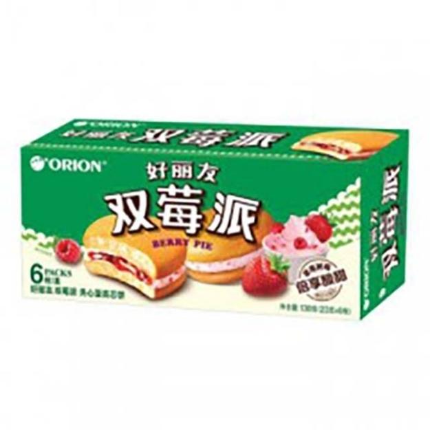Picture of Orion cake(Dual Raspberry Pie) 6 pieces,1 box, 1*16 box   好丽友蛋糕(双莓派)6枚,1盒,1*16盒
