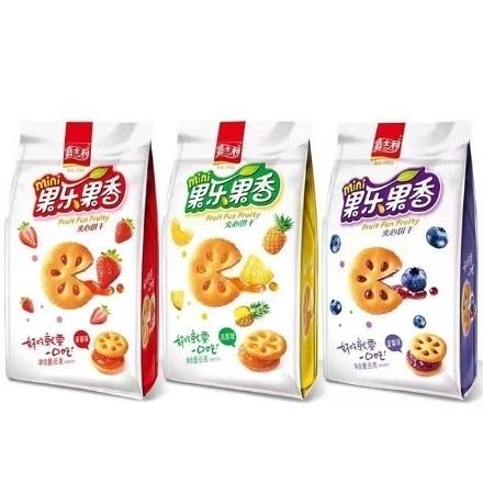 图片 Jiashili Sandwich Biscuit,flavor(Blueberry, pineapple, strawberry) 85g,1 pack, 1*24 pack | 嘉士利果乐果香果酱夹心饼干(蓝莓,凤梨,草莓)85g,1包,1*24包
