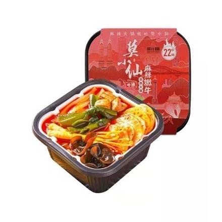 图片 Mo Xiaoxian self-heating hot pot (spicy tender beef),1 box, 1*18 box,莫小仙自热火锅(麻辣嫩牛),1盒,1*18盒