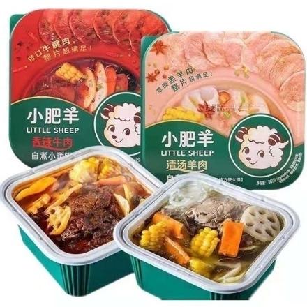 图片 Xiaofeiyang self-heating hot pot,flavor(Clear soup beef, spicy beef, clear soup lamb, spicy lamb),1 box, 1*18 box,小肥羊(清汤牛肉,香辣牛肉,清汤羊肉,香辣羊肉),1盒,1*18盒