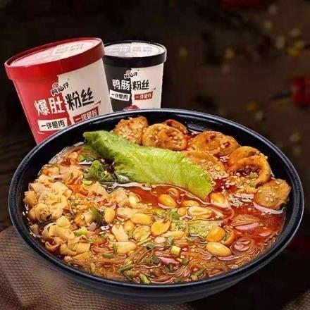 图片 Abozai (Duck intestine vermicelli,fried belly vermicelli),1 barrel, 1*6 barrel|阿伯仔(鸭肠粉丝,爆肚粉丝),1桶,1*6桶