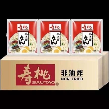 图片 Shou Tao (Japanese-style udon noodles) 200g,1 pack, 1*30 pack|寿桃(日式乌冬面)200g,1包,1*30包