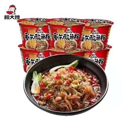 图片 Gu Dasao (Chongqing hot and sour noodles 100g, Chongqing noodles 131g) 100g,1 box, 1*12 box|顾大嫂(重庆酸辣粉100g,重庆小面131g)100g,1盒,1*12盒