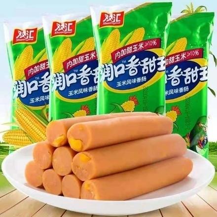 图片 Shuanghui Sweet King corn Ham Sausage 8 sticks of 240g,1 pack, 1*14 pack|双汇润口香甜王玉米火腿肠 8支240g,1包,1*14包