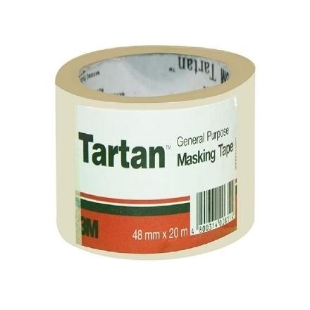 Picture of 3M Tartan General Purpose Masking Tape - 48mm x 20m