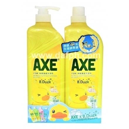 Picture of Axe Lemon Dishwashing Liquid Special Pack 1300GX2 Bucket,1 bottle|斧头牌柠檬洗洁精优惠装1300GX2桶,1瓶