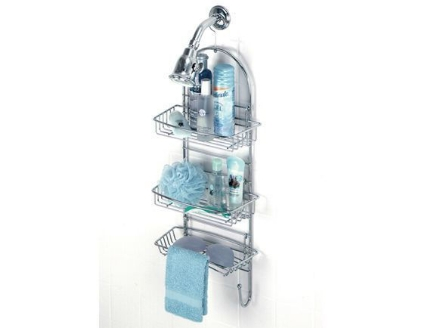 Picture of Chrome caddy with 3 adjustable shelves