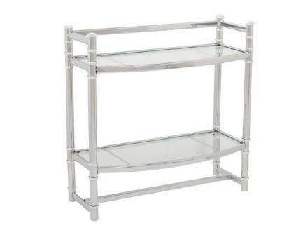 "Picture of Zenith studio ""no tools"" wall shelf  chrome & glass"
