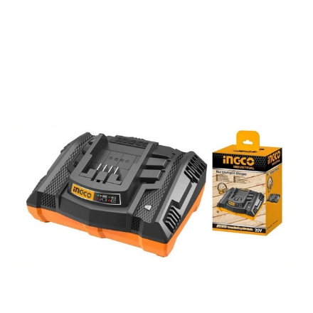 INGCO 20V Fast Intelligent Charger, Compatible with All INGCO P20S Power Tools, FCLI2003