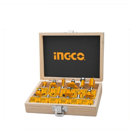 INGCO 12pcs 1/4inch Router Bits Set (6mm), AKRT12141