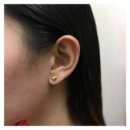 Picture of 18K - Saudi Gold Jewelry Heart Earrings