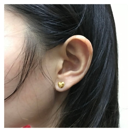Picture of 18K - Saudi Gold Jewelry 4 Leaf Clover Earrings