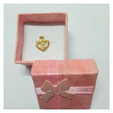 Picture of 18K - Saudi Gold Jewelry Heart Channel Pendant
