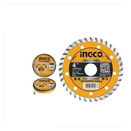 """INGCO Turbo Diamond Disc 100(4"""") x 16mm, DMD031002M"""