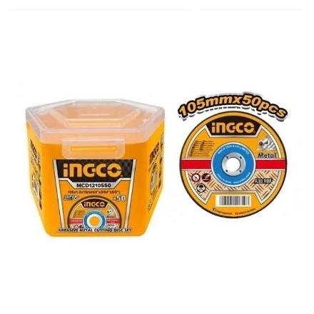 INGCO Abrasive Metal Cutting Disc Set 50PCS/SET, MCD1210550